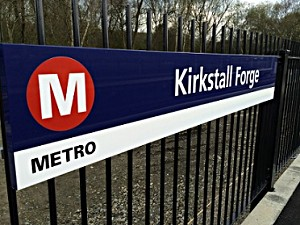 Sign at Kirkstall Forge station